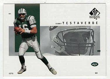 Football Testaverde Vinny (Vinny Testaverde (Football Card) 2001 Upper Deck SP Authentic # 62)