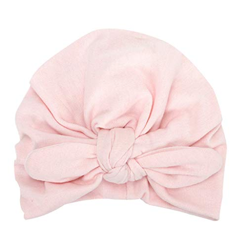 Bowknot Rabbit (Sunshinehomely Newborn Girls Boys Rabbit Ears Bowknot Cotton Sleep Cap Headwear Hat (Pink))
