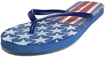 Desconocido Bandera de Estados Unidos Chanclas Star y Rayas Rojo Blanco y Azul Unisex Hombre Mujer Niños Niñas Sandalias: Amazon.es: Deportes y aire libre