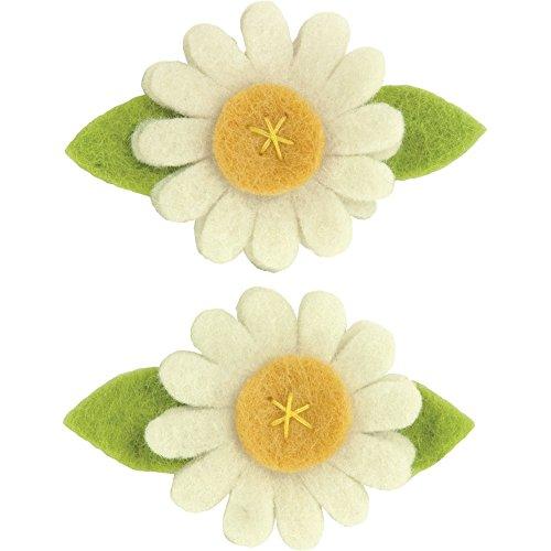Dimensions Daisy Wool Felt Flower Embellishment Craft, 2 pc, 3'' x 2''