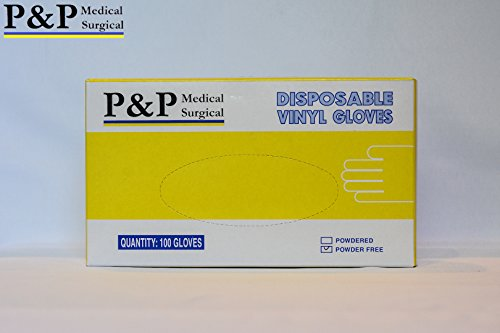 Vinyl Gloves Disposable Medical Exam Powder Latex Free (1 Case= 1000 gloves) X-Large by P&P Medical Surgical (Image #3)