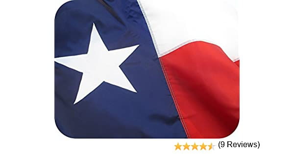 Beautiful de bandera de Texas, durable, All Weather nailon, Texan bandera totalmente cosidas con Appliqued estrella y ultravioleta resistente a la decoloración nailon 100% fabricado en los Estados Unidos: Amazon.es: Jardín