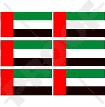 Bandera de Emiratos Árabes Unidos Dubai UAE, Abu Dhabi 40 mm (1, 6