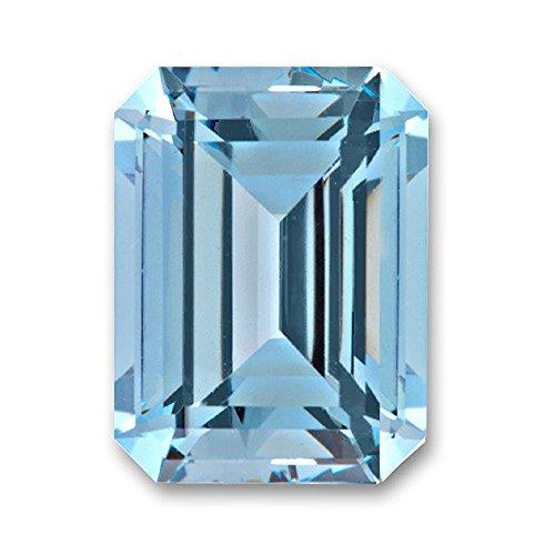 9x7mm Octagon Emerald Cut Gem Quality Chatham Lab-Grown Aqua Blue Spinel 2.57-3.15 (Cut Chatham Emerald)