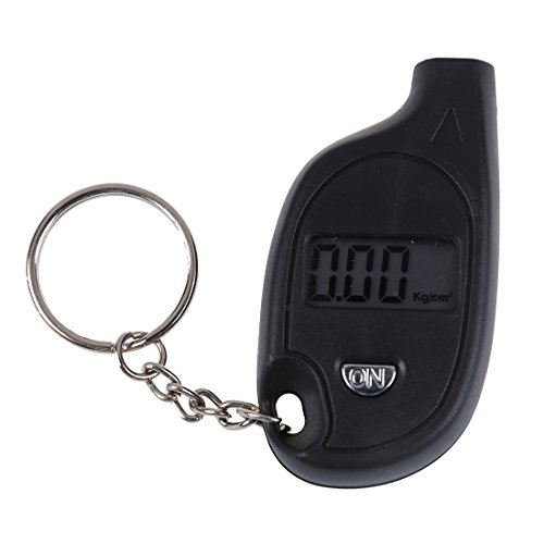 SODIAL(R) Mini Portable Digital LCD Tire Tyre Wheel Air Pressure Gauge Tester Keychain For Car PSI KPA BAR KG/CM? black