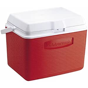 Rubbermaid Cooler / Ice Chest, 24-quart, Red