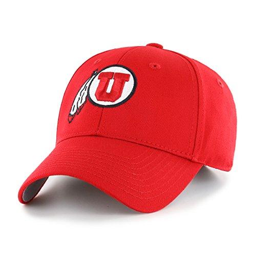 NCAA Utah Utes OTS All-Star MVP Adjustable Hat, Red, One Size