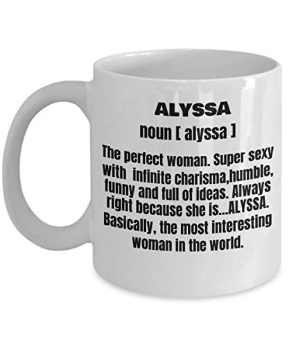 - Funny Mugadult Definition First Name Alyssa Women Funny White Porcelain Coffee Mug Cute Cool Ceramic Cup 11 Oz
