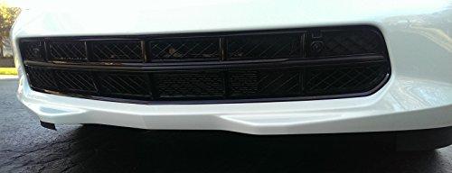 Corvette C7 Vinyl Chrome Grille Bar Overlay - Black Carbon (Bars Overlay)