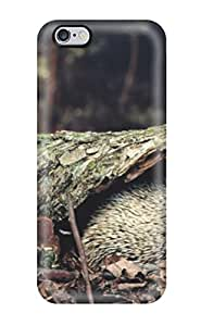 OlKRSpy1140iqwKL Snap On Case Cover Skin For Iphone 6 Plus(hedgehog Hiding Behind Tree Bark) by lolosakes