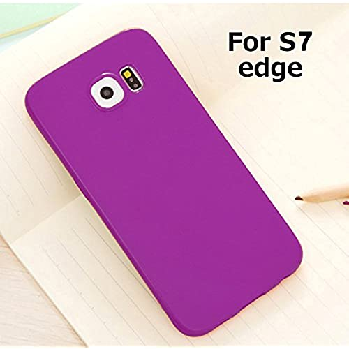 Galaxy S7 Edge Jelly Case, ANLEY Candy Fusion Series - [Shock Absorption] Classic Jelly Silicone Case Soft Cover for Samsung Galaxy S7 Edge (Royal Purple)  Sales