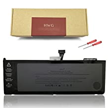 HWG A1382 Battery for A1286 APPLE MacBook Pro 15 inch (only for Early 2011, Late 2011, Mid 2012) Laptop Replacement Battery, fit MC721LL/A MC723LL/A 661-5844 020-7134-A