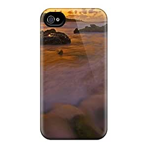 Snap-on Seaside Dreamscape Case Cover Skin Compatible With Iphone 4/4s