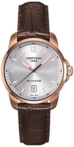 Certina - Wristwatch, Analog Quartz, Leather, Men