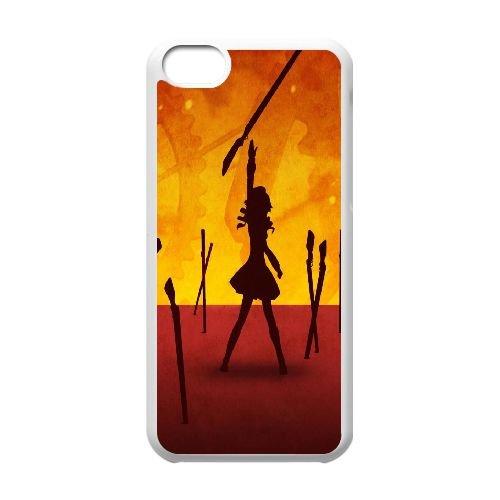 G8N56 Madoka Magica W7J4YL cas d'coque iPhone de téléphone cellulaire 5c couvercle coque blanche DD7MEL3JD