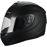 Triangle Full Face Black Street Bike Motorcycle Helmets...