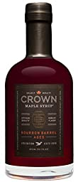 Crown Maple Organic Grade A Maple Syrup, Bourbon Barrell Aged, 12.7 Ounce