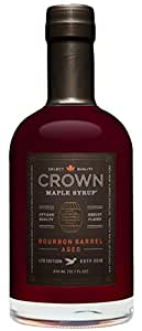 Crown Maple Organic Grade A Maple Syrup, Bourbon Barrel Aged, 12.7 Ounce
