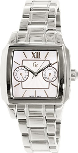 Guess Women's I43000L1 Silver Stainless-Steel Swiss Quartz Watch with Mother-Of-Pearl Dial