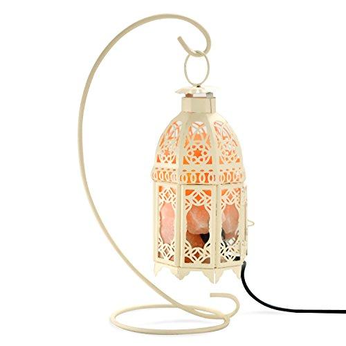 Himalayan Salt Lamp,Himalayan Pink Salt lamp with Adjustable Brightness,Classical Iron Candlestick Design.Great Night Light Kitchen Bedside Hallway Bathroom Vanity Decorative Lighting