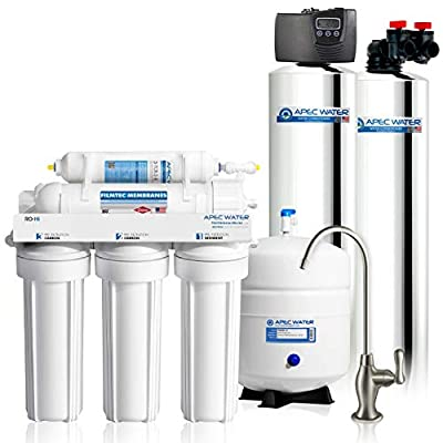 APEC Water Systems GREEN-CARBON Premium Whole House Water Filter Up to 1,000K Gallon, Removes Chlorine, Chloramine and More