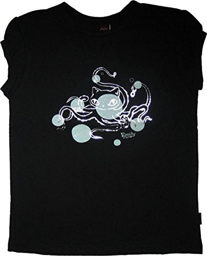 Emily the Strange juniors women's shirt tee Octopus Cat Black