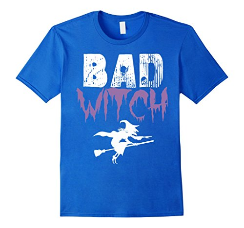 Funny Halloween Ideas For Men (Mens Bad Witch Shirt Funny Halloween Womens Gift Idea T-Shirt Large Royal Blue)