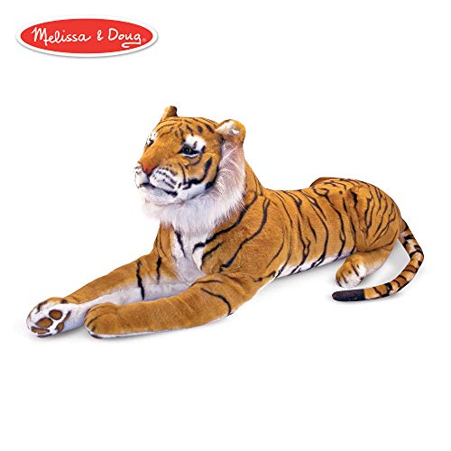 - Melissa & Doug Tiger Giant Stuffed Animal (Wildlife, Soft Fabric, Beautiful Tiger Markings, Hand Crafted, 67