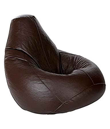 FUNKkY STORES Classic Bean Bag Cover Without Beans (Brown, XXXL)