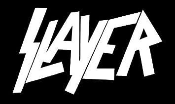 Slayer, logo / tuning sticker, vinyl / (15cm) high quality product / spitzen qualitä t !!! + Farbwahl (weiß ) Foliendruck patzl