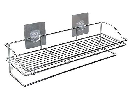 Egab Stainless Steel Multi Purpose Bathroom - Shelf - Rack - Kitchen Shelf Magic Sticker