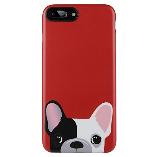 iPhone 8 Plus Case for Girls/iPhone 7 Plus Cute Dog Case,GOLINK Cute Animal Series Slim-Fit Ultra-Thin Anti-Scratch Shock Proof Dust Proof Anti-Finger Print TPU Gel Case for iPhone 7/8 Plus- Dog