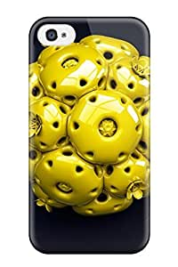 AnnaSanders Iphone 4/4s Well-designed Hard Case Cover Yellow Ball Cgi 3d Abstract Cgi Protector