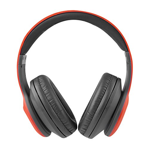 - Altec Lansing MZX300-RED Wireless Over Ear Bluetooth Headphones with Microphone, Red