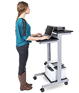 Amazon Com 24 Quot Shelves Adjustable Mobile Stand Up