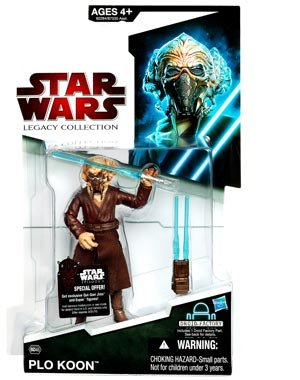 Star Wars 2009 Legacy Collection BuildADroid Action Figure Plo Koon with Removable Face (Plo Koon Mask)