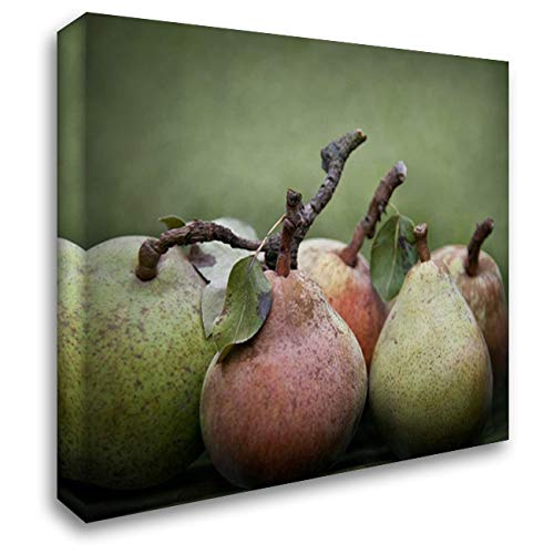 Comice Pears I 40x32 Extra Large Gallery Wrapped Stretched Canvas Art by Perry, Rachel