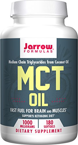 Oil Coconut Jarrow Formulas (Jarrow Formulas MCT Oil Softgels, 180 Count)
