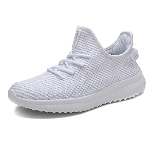 DREAM PAIRS Men's Athletic Walking Shoes Sneakers 170726_1_M White Size 10.5 M US (Best Indoor Gym Shoes)