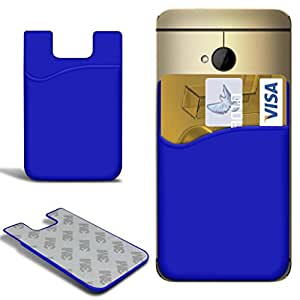 N4U Online - Sony Xperia Z1 compacto delgado de silicona palo en Caso Ranura para tarjeta de débito / crédito - Azul