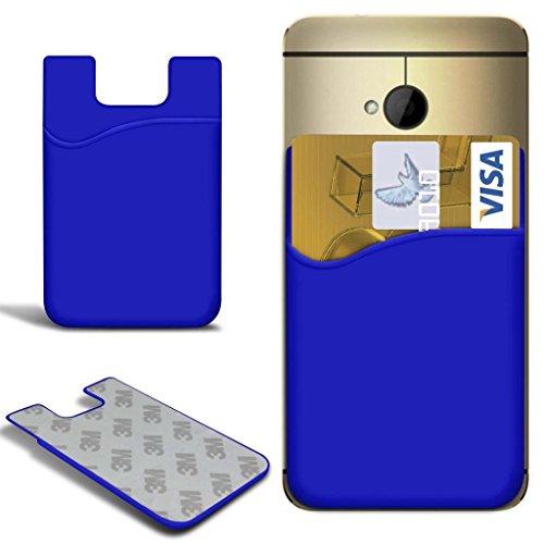N4U Online - Apple Iphone 3GS Slim bâton silicone / carte Débit Crédit Housse de fente de la peau - Bleu