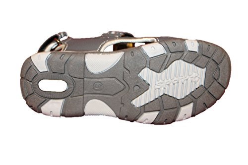 sport-sandales nu pieds-grise-garçon