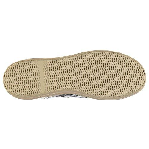 Jeffrey Campbell zip rughe grigio moda piattaforma scarpe da donna, sneaker