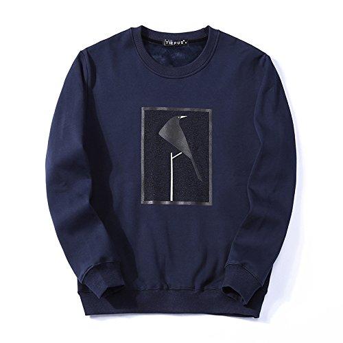 T - Shirt - Hoodies - Winter, Leiter des männer - t - Shirt warme Pullover,Royal Blau,L