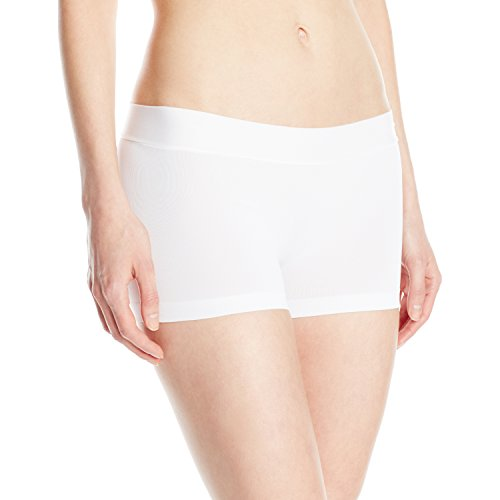 Shorts Smooth (Maidenform Women's Smooth Boyshort, White, Small/5)