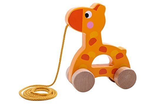 wooden pull along toy set of 3 beautiful giraffe elephant zebra pull along toy for baby boy. Black Bedroom Furniture Sets. Home Design Ideas