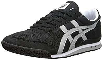 Onitsuka Tiger Ultimate 81 Classic Running Shoe, Black/Light Grey, 4 M US