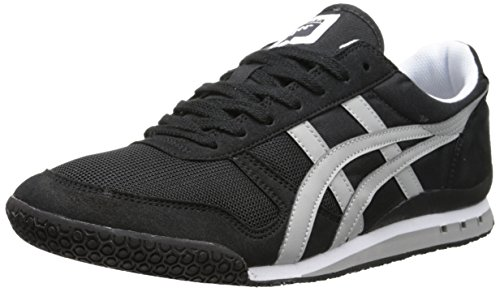 Onitsuka Tiger Ultimate 81 Classic Running Shoe, Black/Light Grey, 8.5 M US