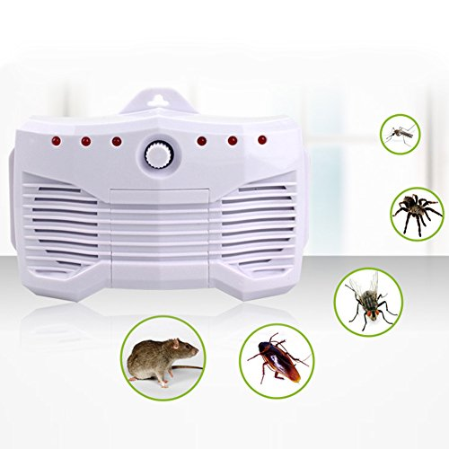 Ultrasonic Pest Repeller, 4-In-1 Rat Repeller Pest Control The Functions Of Ultrasonic Imitation Sound Wave Electromagnetic Wave And Auto Engine Identification Protection For The Car Against Mice