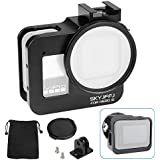 Compatible Hero8 Aluminum Case with Circular Lens Ring&52mm UV Filter,Perfect Cold Shose for Mount,Expert Protective Aluminum Case for Easy to Reach All Buttons and Ports